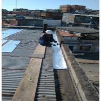 Impermeabilização de calhas com manta